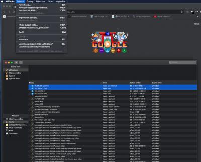MacOS X • Disablovaný export klíčenky