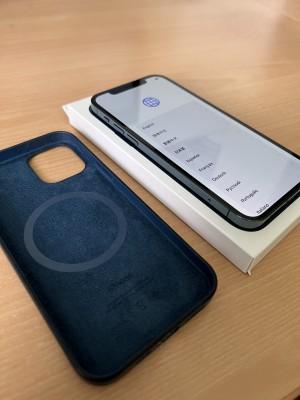 Bazar - chci prodat • iPhone 12 Pro 128GB Pacific Blue + originální kožené pouzdro, v záruce